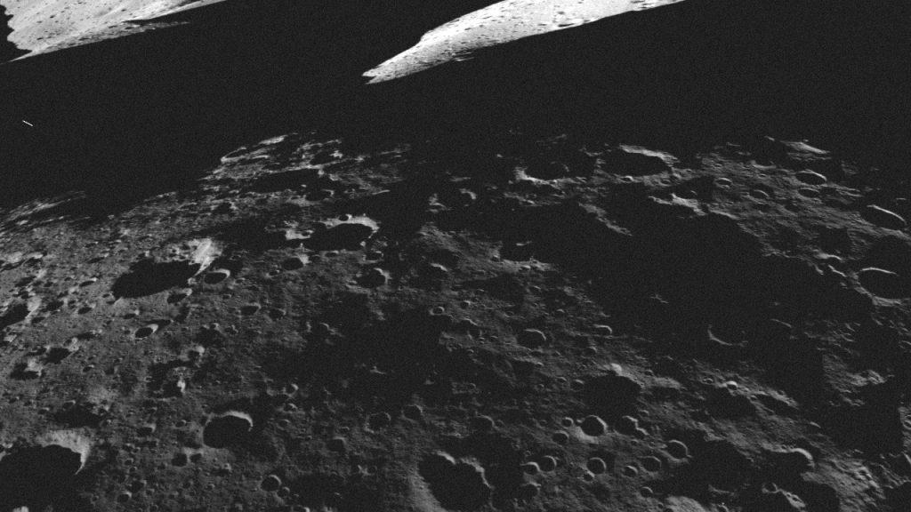 PANGU v4 simulation of a Lunar Lander descent onto Malapert mountain